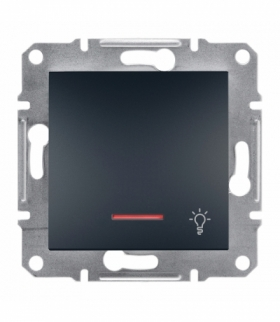 Asfora Przycisk światło bez ramki z podświetleniem antracyt Schneider EPH1800171