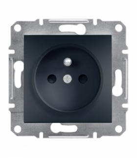 Asfora Gniazdo 2P+PE z przesłonami bez ramki, antracyt Schneider EPH2800271