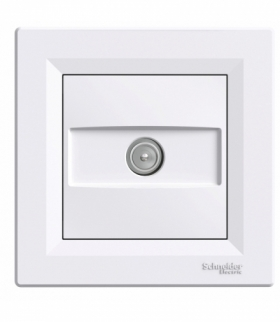 Asfora Gniazdo TV przelotowe (4dB) biały Schneider EPH3200221