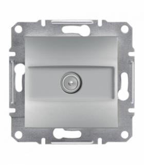 Asfora Gniazdo TV przelotowe (4dB) bez ramki aluminium Schneider EPH3200261