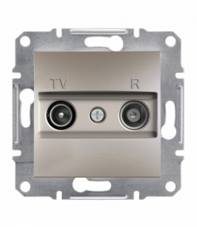 Asfora Gniazdo RTV końcowe (1dB) bez ramki brąz Schneider EPH3300169