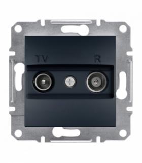 Asfora Gniazdo RTV końcowe (1dB) bez ramki antracyt Schneider EPH3300171
