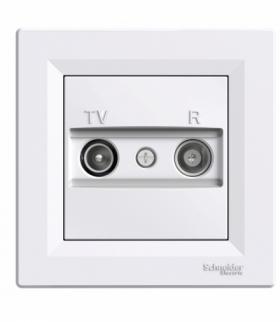 Asfora Gniazdo RTV przelotowe (4dB) biały Schneider EPH3300221