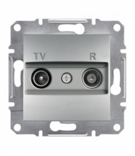 Asfora Gniazdo RTV przelotowe (4dB) bez ramki aluminium Schneider EPH3300261