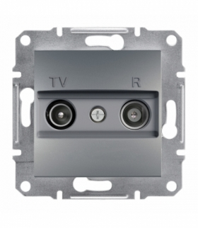 Asfora Gniazdo RTV przelotowe (4dB) bez ramki stal Schneider EPH3300262