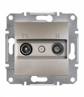 Asfora Gniazdo RTV przelotowe (4dB) bez ramki brąz Schneider EPH3300269