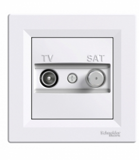 Asfora Gniazdo TV-SAT końcowe (1dB) biały Schneider EPH3400121