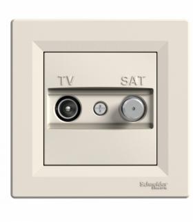 Asfora Gniazdo TV-SAT końcowe (1dB) krem Schneider EPH3400123