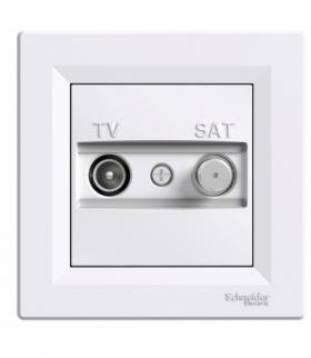 Asfora Gniazdo TV-SAT przelotowe (4dB) biały Schneider EPH3400221
