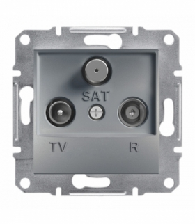 Asfora Gniazdo RTV-SAT końcowe (1dB) bez ramki stal Schneider EPH3500162