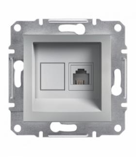 Asfora Gniazdo telefoniczne RJ11 bez ramki aluminium Schneider EPH4100161