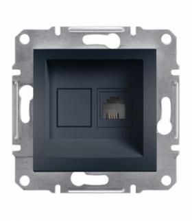 Asfora Gniazdo telefoniczne RJ11 bez ramki antracyt Schneider EPH4100171