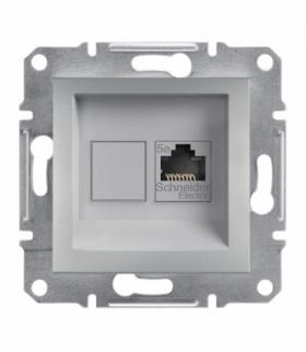 Asfora Gniazdo komputerowe RJ45 kat.5e UTP bez ramki aluminium Schneider EPH4300161