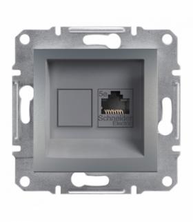 Asfora Gniazdo komputerowe RJ45 kat.5e UTP bez ramki stal Schneider EPH4300162