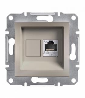 Asfora Gniazdo komputerowe RJ45 kat.5e UTP bez ramki brąz Schneider EPH4300169