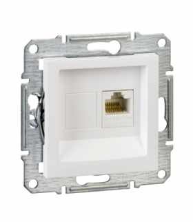 Asfora Gniazdo komputerowe RJ45 kat.5e UTP biały Schneider EPH4300721