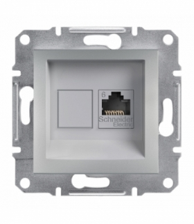 Asfora Gniazdo komputerowe RJ45 kat.6 UTP bez ramki aluminium Schneider EPH4700161