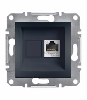 Asfora Gniazdo komputerowe RJ45 kat.5e STP bez ramki antracyt Schneider EPH5000171