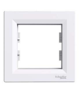 Asfora Ramka 1-krotna pozioma biały Schneider EPH5800121