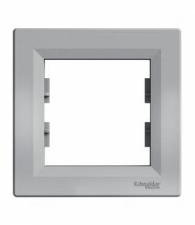 Asfora Ramka 1-krotna pozioma aluminium Schneider EPH5800161