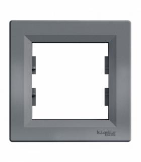 Asfora Ramka 1-krotna pozioma stal Schneider EPH5800162