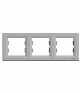 Asfora Ramka 3-krotna pozioma aluminium Schneider EPH5800361