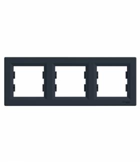 Asfora Ramka 3-krotna pozioma antracyt Schneider EPH5800371