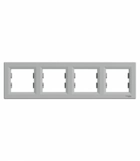 Asfora Ramka 4-krotna pozioma aluminium Schneider EPH5800461