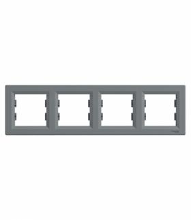 Asfora Ramka 4-krotna pozioma stal Schneider EPH5800462