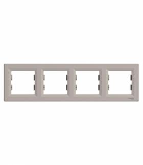 Asfora Ramka 4-krotna pozioma brąz Schneider EPH5800469