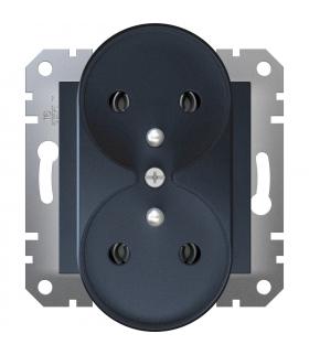 Asfora Gniazdo 2x2P+PE do systemu ramkowego, antracyt Schneider EPH9810271