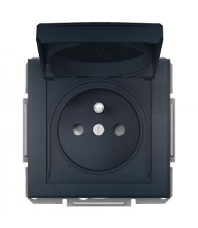 Asfora Gniazdo 2P+PE IP44 do systemu ramkowego, antracyt Schneider EPH2800671