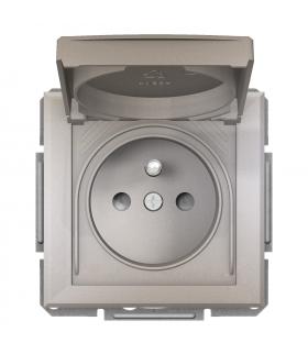Asfora Gniazdo 2P+PE IP44 do systemu ramkowego, brąz Schneider EPH2800669