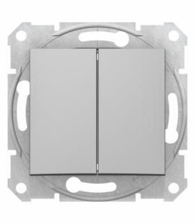 Sedna Łącznik podwójny schodowy aluminium Schneider SDN0600160