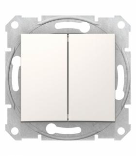Sedna Przycisk podwójny, kremowy Schneider SDN1100123