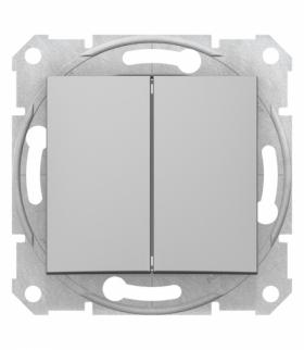Sedna Przycisk podwójny, aluminium Schneider SDN1100160
