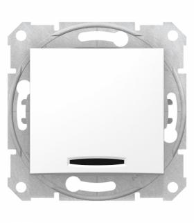 Sedna Łącznik 1-biegunowy z podświetleniem biały Schneider SDN1400121
