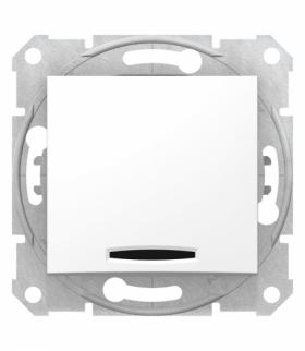 Sedna Przycisk z podświetleniem biały Schneider SDN1600121