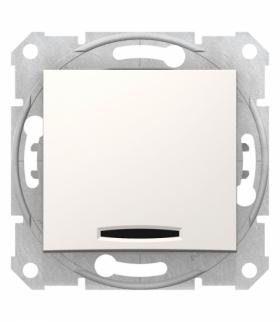 Sedna Przycisk z podświetleniem krem Schneider SDN1600123