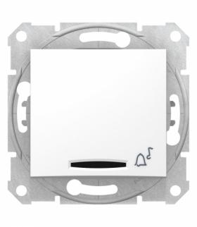 Sedna Przycisk dzwonek z podświetleniem biały Schneider SDN1600421