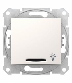 Sedna Przycisk światło z podświetleniem krem Schneider SDN1800123
