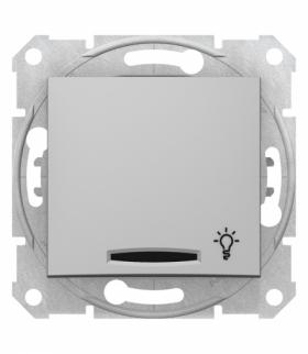 Sedna Przycisk światło z podświetleniem aluminium Schneider SDN1800160