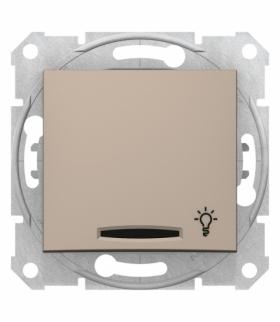 Sedna Przycisk światło z podświetleniem satyna Schneider SDN1800168