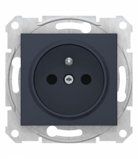 Sedna Gniazdo pojedyncze 2P+PE z przesłonami grafit Schneider SDN2800170
