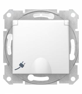Sedna Gniazdo pojedyncze 2P+PE z przesłonami IP44 biały Schneider SDN2800321