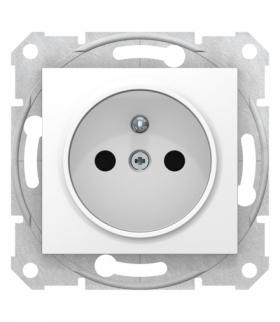 Sedna Gniazdo 2P+PE z przesłonami szybkozłączka biały Schneider SDN2800721