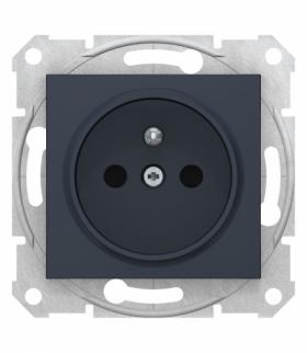 Sedna Gniazdo 2P+PE z przesłonami szybkozłączka grafit Schneider SDN2800770