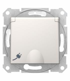 Sedna Gniazdo 2P+PE IP44 szybkozłączka kremowe Schneider SDN2800823