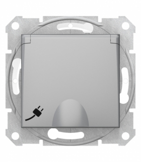 Sedna Gniazdo 2P+PE IP44 szybkozłączka aluminium Schneider SDN2800860