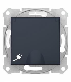 Sedna Gniazdo 2P+PE IP44 szybkozłączka grafitowe Schneider SDN2800870